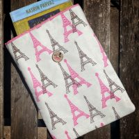 book sleeve Pink Eiffel tower