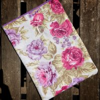 padded floral cotton booksleeve