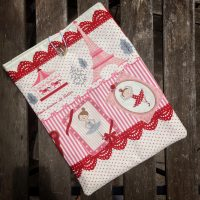 Padded cotton book sleeve Paris Ballerina