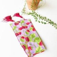 strawberry padded bookmark